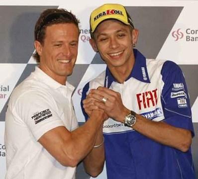 Rossi y Gibernau