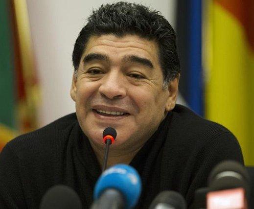 Maradona rueda de prensa