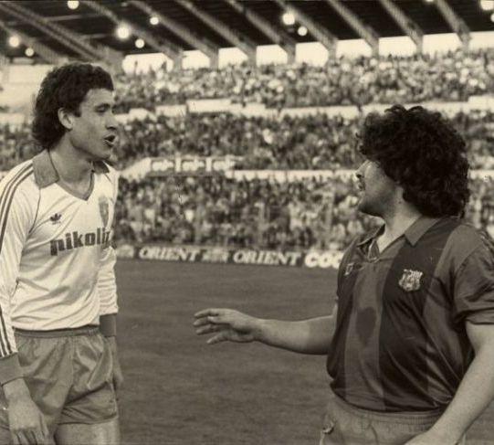 Maradona y valdano