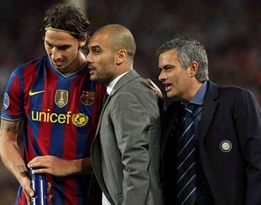 Mou Ibra y Guardiola
