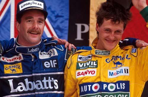 Mansell y Schumacher