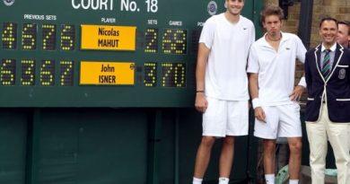 El partido de los records de la historia del tenis