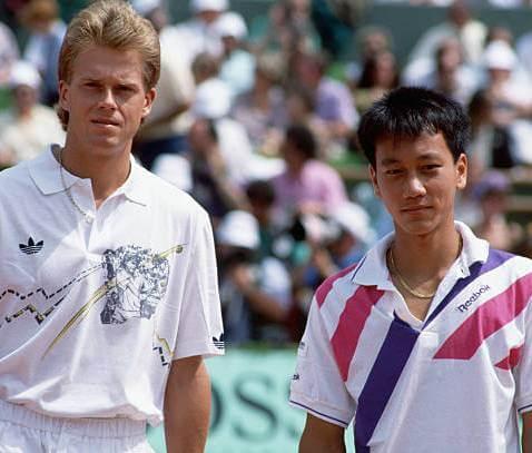 Michael Chang y Stephan Edberg