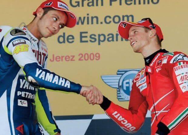 Rossi y Stoner campeones con dos marcas
