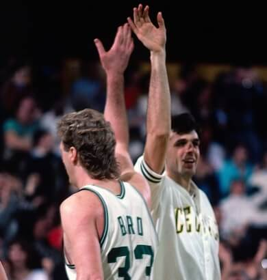 Kevin Mchale y Larry Bird