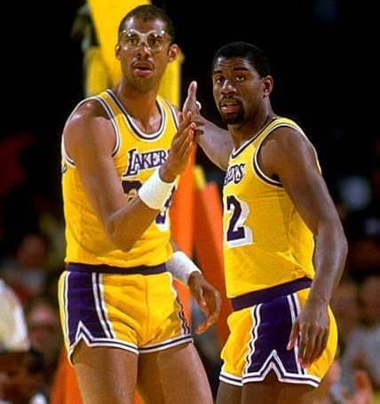 Kareem Abdul Jabbar Magic Johnson