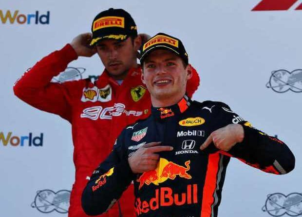 Max Verstappen y Charles Leclerc
