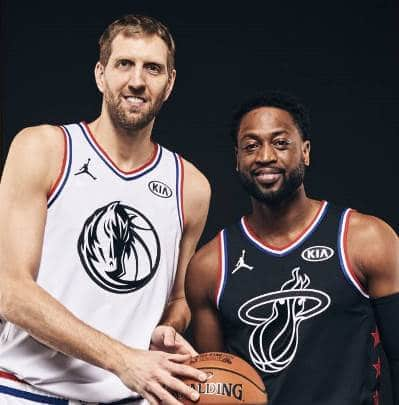 Nowitzki y Wade en el All Star 2019
